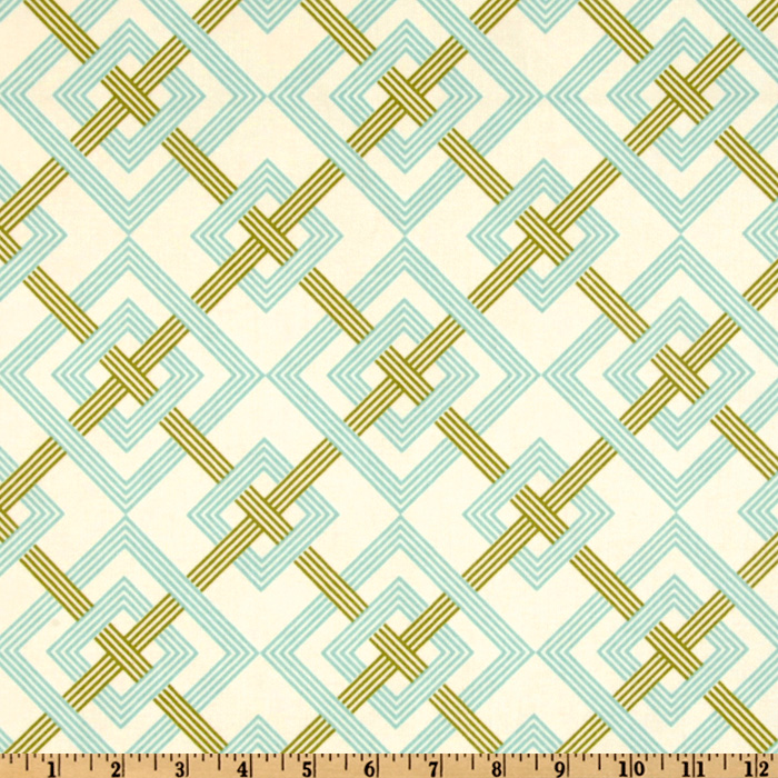 Waverly Square Root Aquamarine Fabric