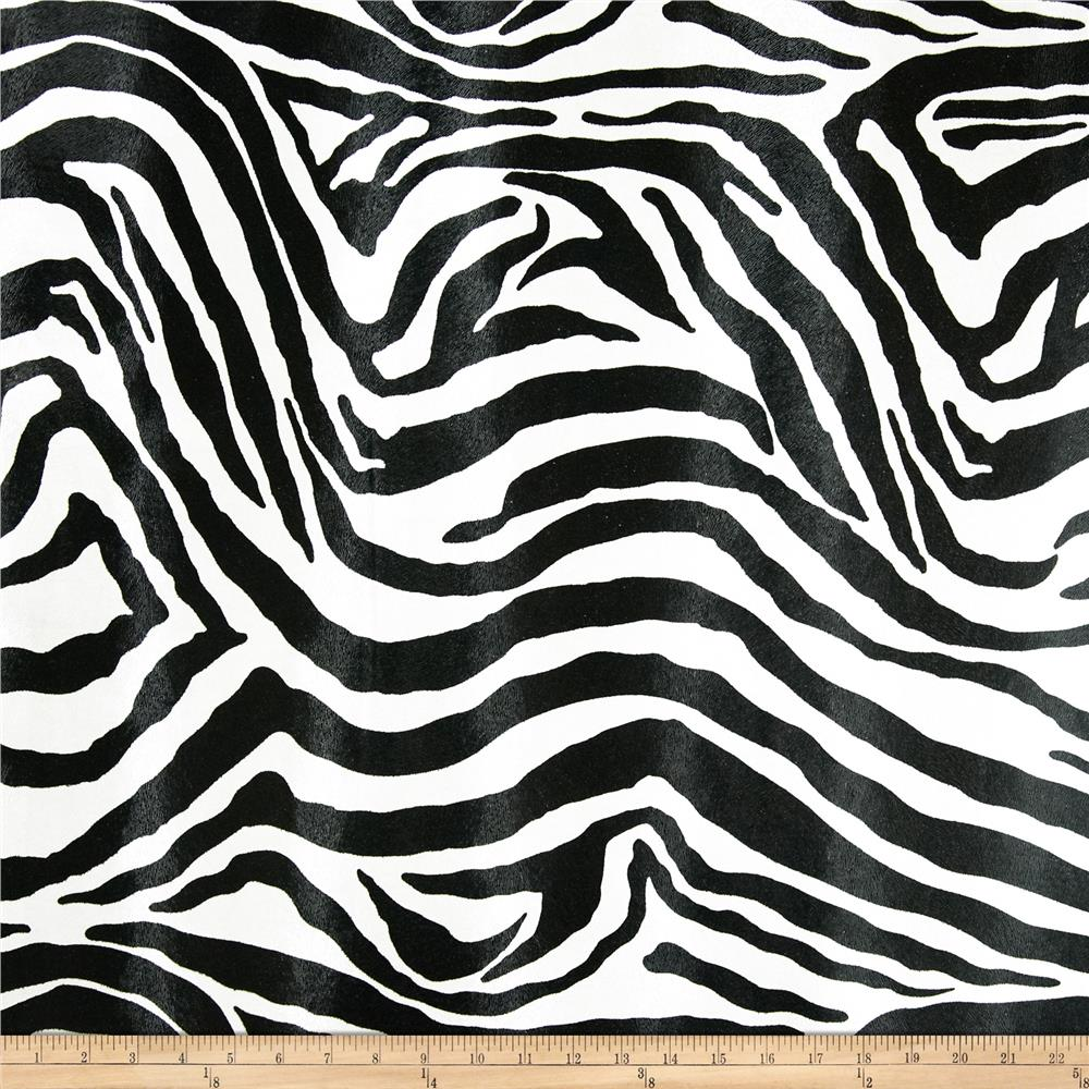 Faux Leather Zebra Black/White