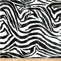 Faux Leather Zebra Black/White Fabric