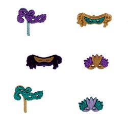 Dress It Up Embellishment Buttons  Mardi Gras