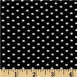 Designer Crepe Georgette Pin Dots Black/White Fabric