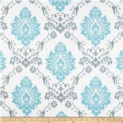 RCA Sheers Damask Aqua/Grey