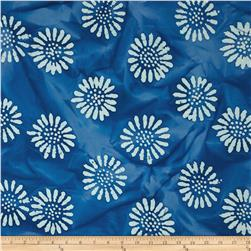 Indian Batik Daisy Blue Lapis