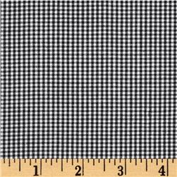 Kaufman 1/16'' Carolina Gingham Black Fabric