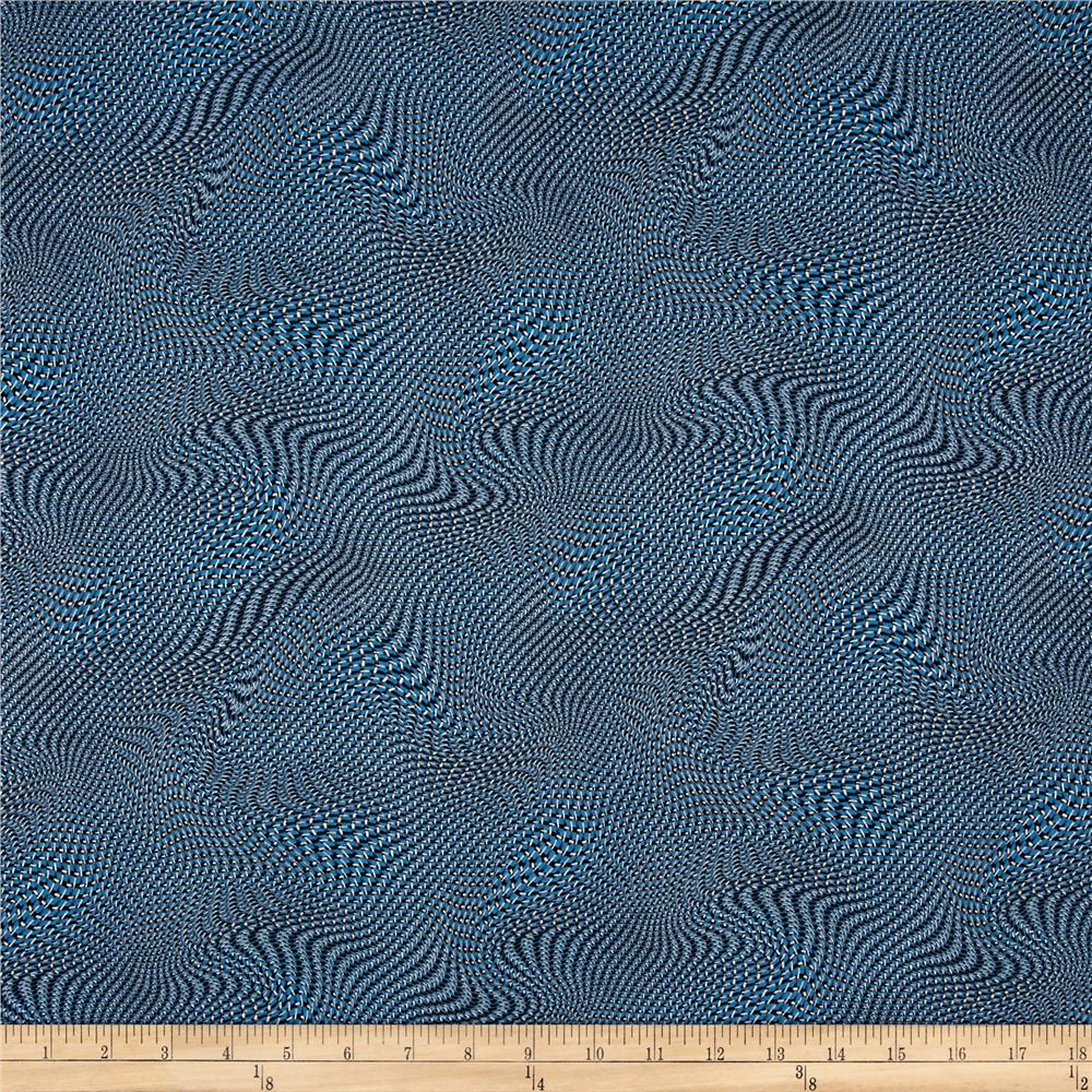 Silver Circuits Metallic Net Blue