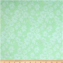 Stretch Jacquard Flowers Mint