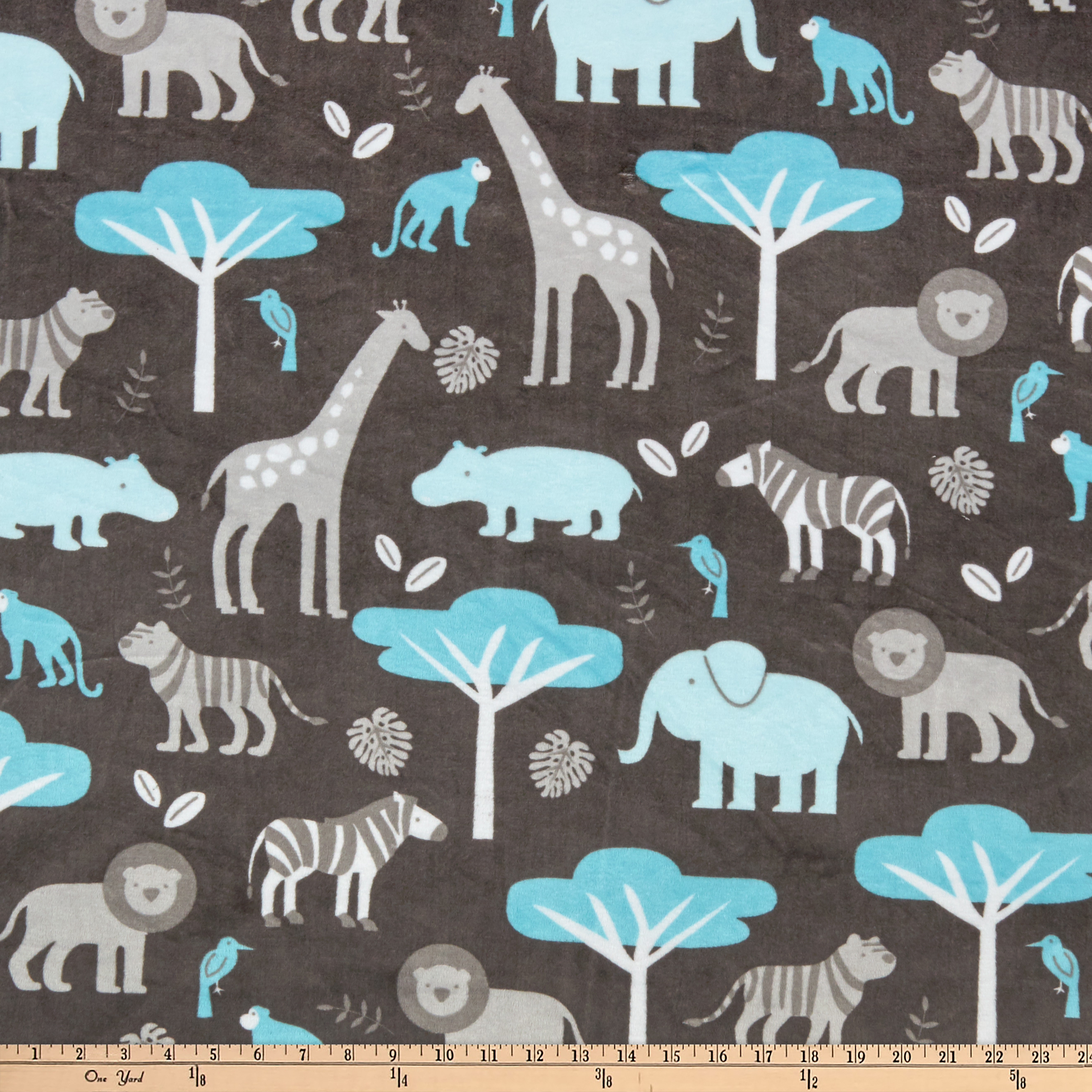 Jungle babies discount designer fabric for Childrens jungle print fabric