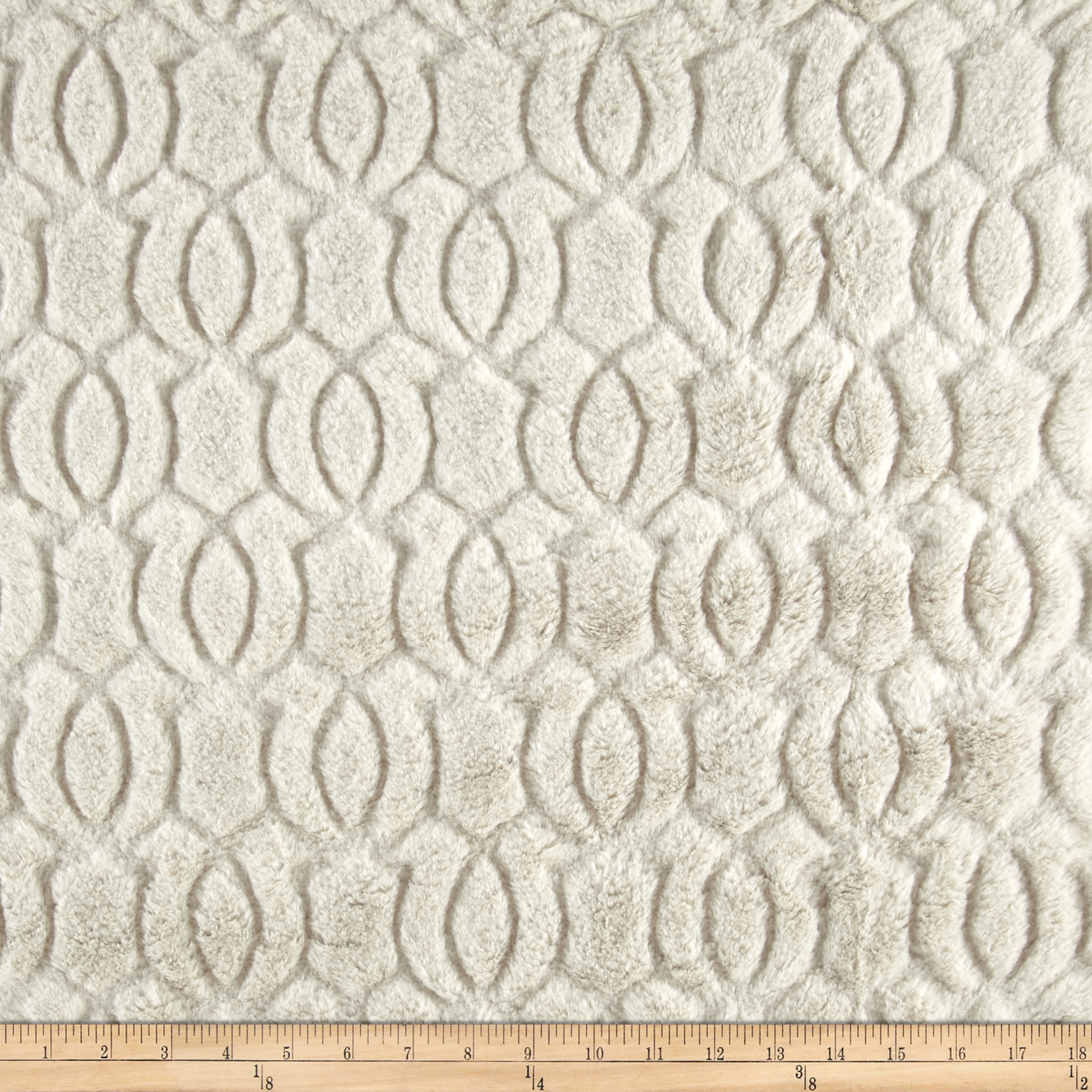 Minky Moscow Snuggle Platinum Fabric by E.Z Fabric in USA