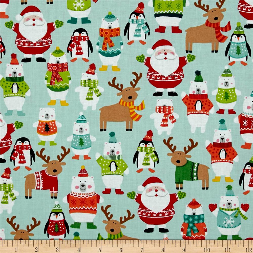 Novelty Christmas Novelty Scatter Teal
