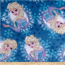 Disney Frozen Fleece Framed Elsa Toss Light Blue