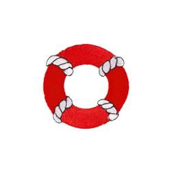 Life Preserver Applique Red