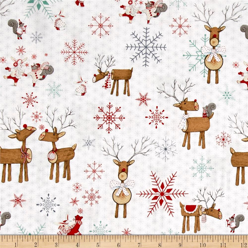 Joy, Love, Peace Reindeer White
