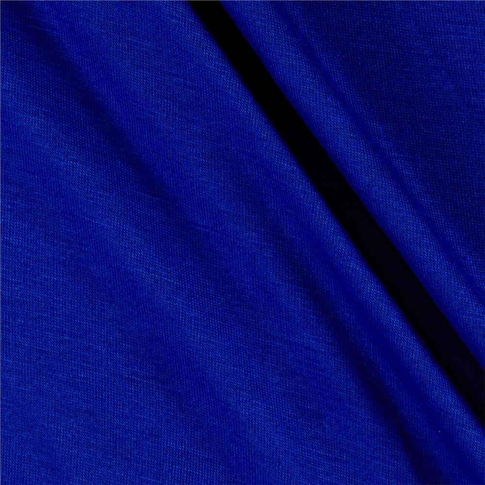 Jersey Knit Solid Cobalt Fabric By The Yard