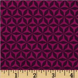 Michael Miller Rustique Shark Tooth Plum Fabric