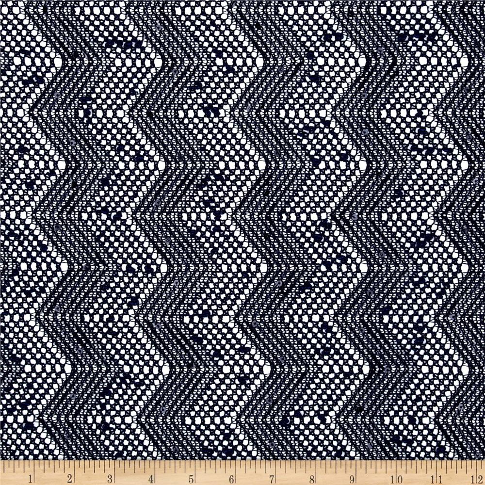 Seaside Lace Chevron Navy