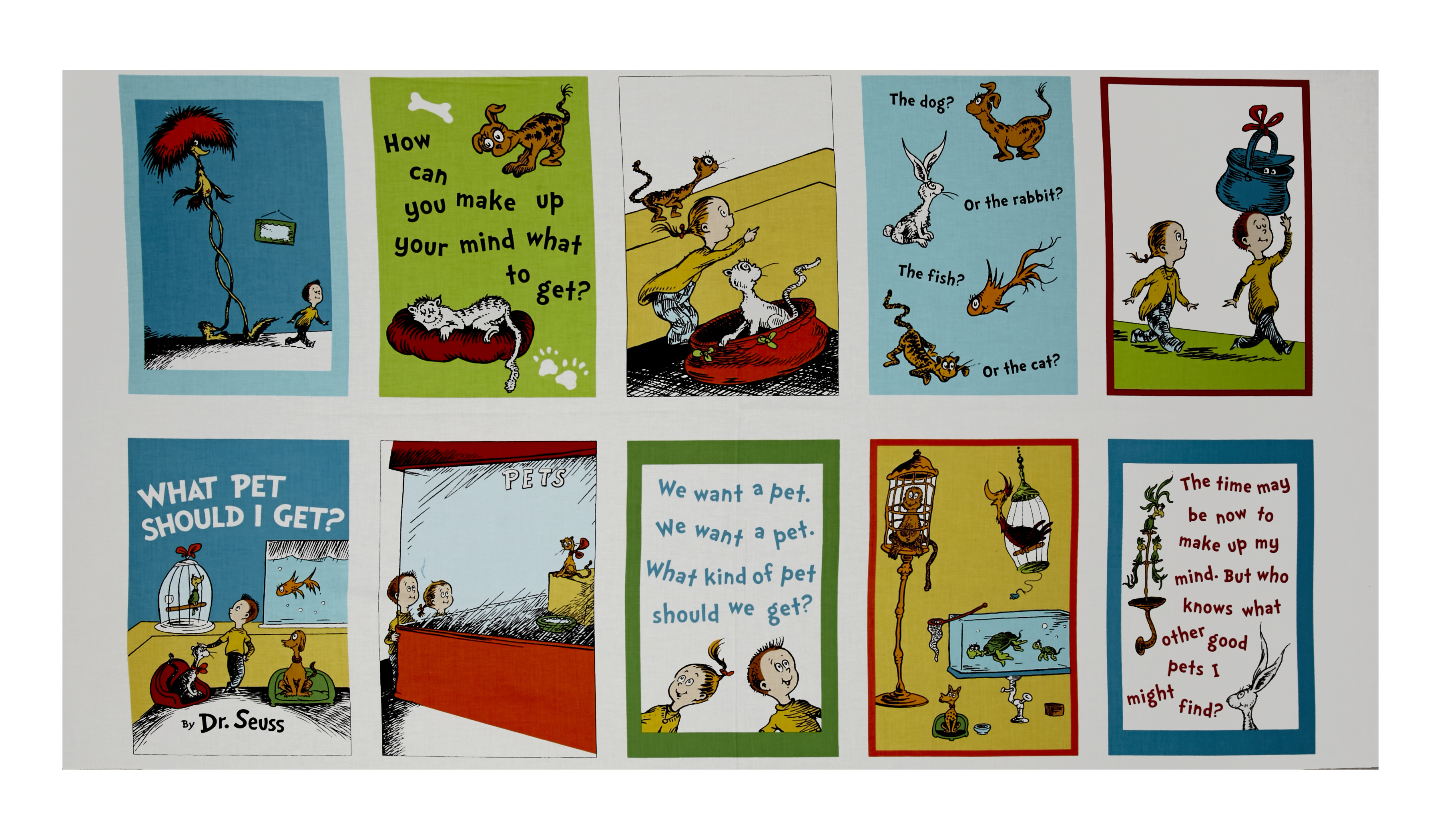 Dr Seuss What Pet Should I Get 24'''' lock Panel Adventure Fabric