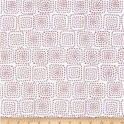 Michael Miller Stitch Square Peppermint Fabric