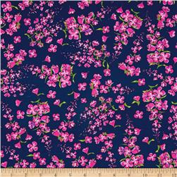 Wildflowers Tossed Floral Light Navy
