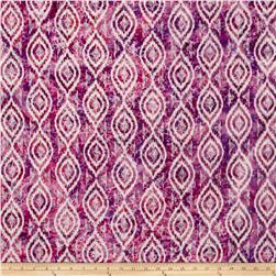 Indian Batik Diamond Ikat Pink/Purple