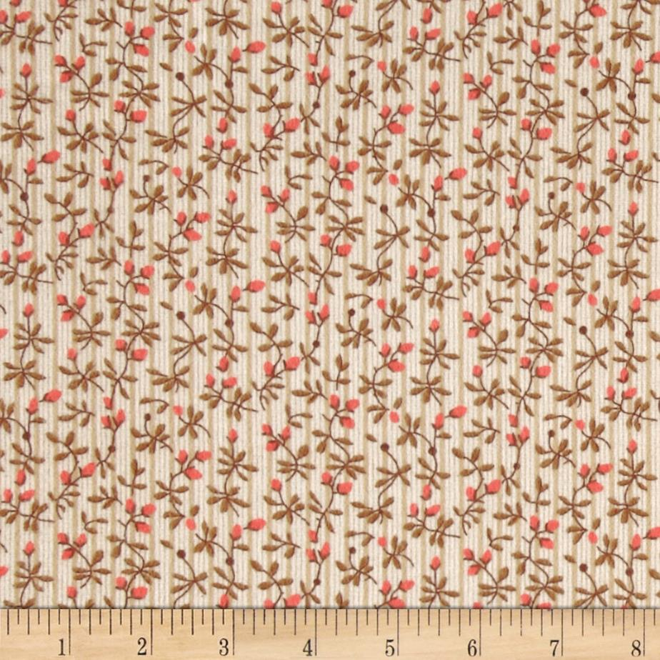 Newcastle Flannel Morning Glory Floral Tan