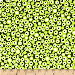 Graffiti Abstract Dots Lime Green