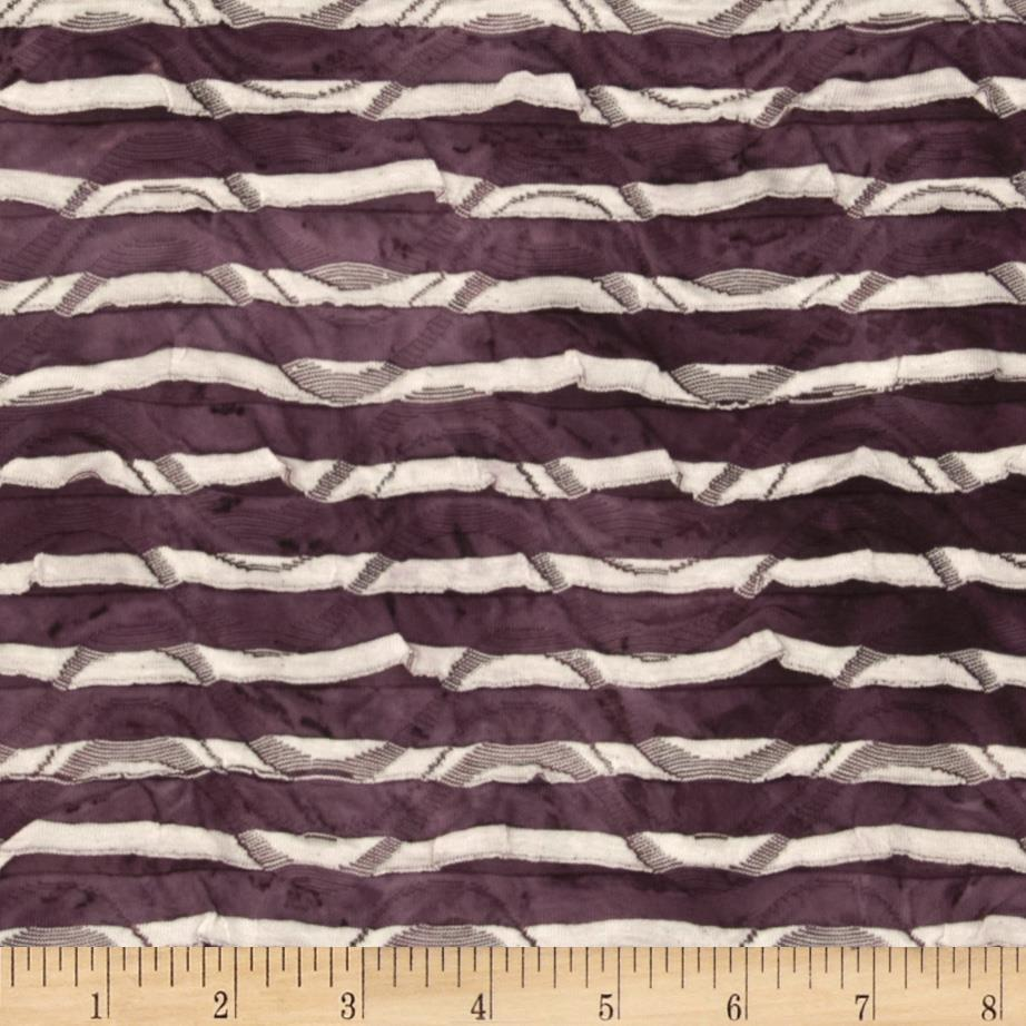 Iceland Stretch Ruffle Knit Tie Dye Stripe Purple