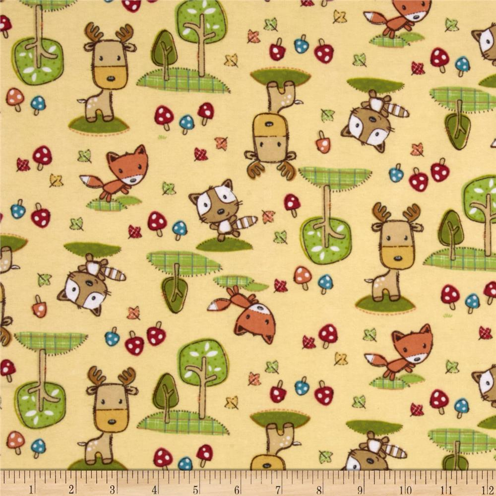 Flannel Forest Animals Cream