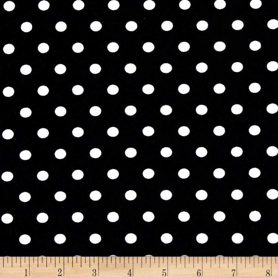 Kaufman Laguna Stretch Jersey Knit Pimatex Basics Polka Dot Black/White Fabric