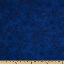 108'' Wide Tonal Bouquet Quilt Backing Blue