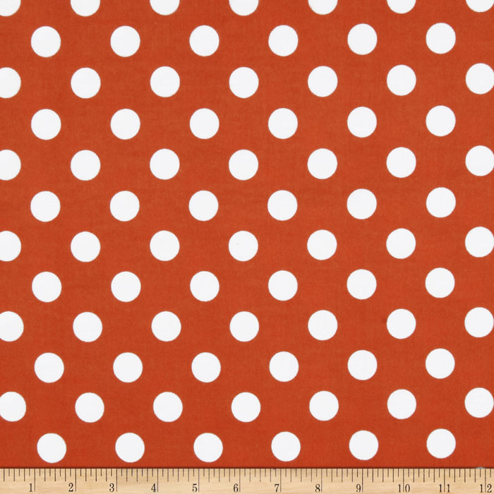 Riley Blake Flannel Basics Dots Medium Orange Fabric