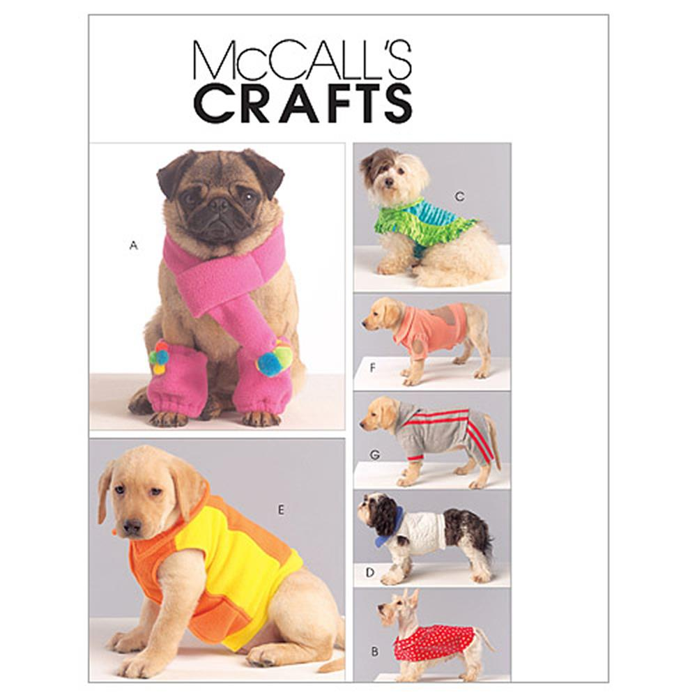 McCall's Dog Coats, Scarf and Leg Warmers Pattern M5776 Size OSZ