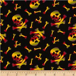 Halloween Night Skulls Black