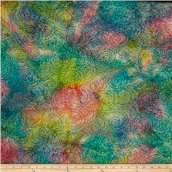Indian Batik Circle Dots Pastel/Multi