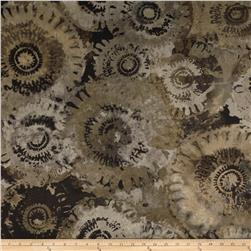 Contempo Hand Made Faux Linen Sun Circles Dark Smoke
