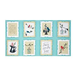 "Songbird 23"" Panel Aqua"