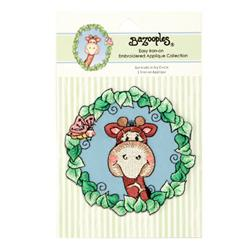 Iron-On Embroidered Applique Bazooples Gertrude In Ivy Circle