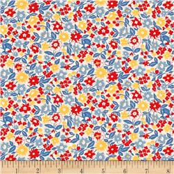 Moda 30's Playtime 2017 Bloomin Bouquet Cotton Sky