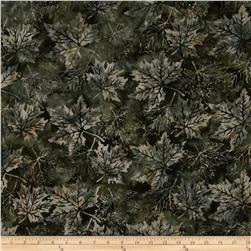 Bali Batiks Maple Leaves Earl Grey Fabric