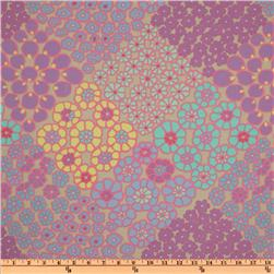 Kaffe Fassett Winter 2011 Collection Tile Flowers Turquoise