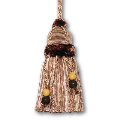 "Fabricut 9"" Keyta Key Tassel Chocolate"