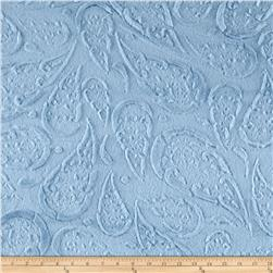 Minky Plush Paisley Light Blue