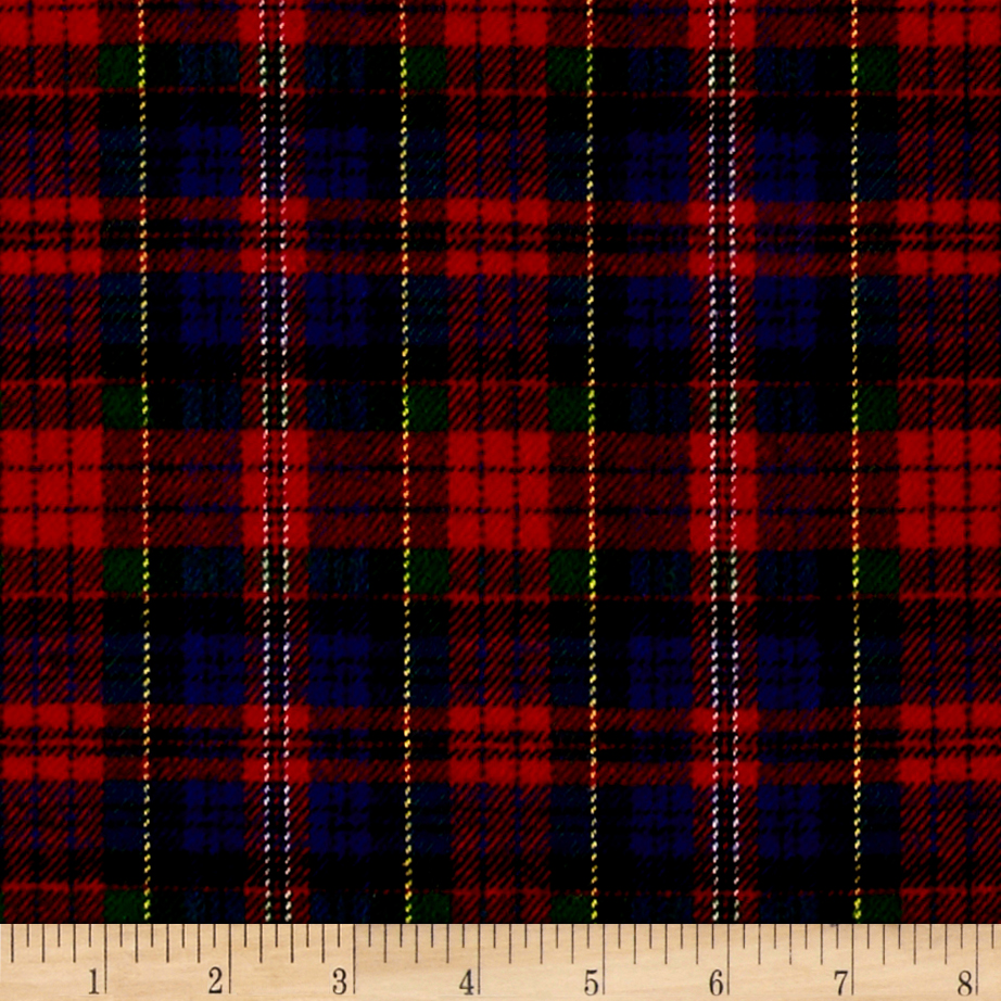 Primo Plaids Classics Flannel Tartan Red/Blue Fabric by Marcus in USA