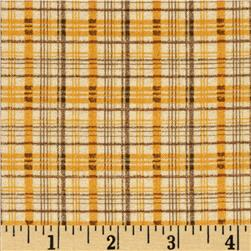 Wintersong Collection Winter Plaid Gold/Tan Fabric