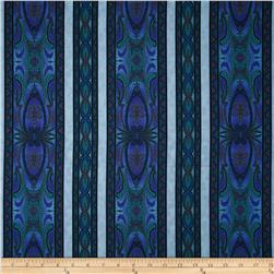 Bedfordshire Bobbin Lace Border Stripes Blue
