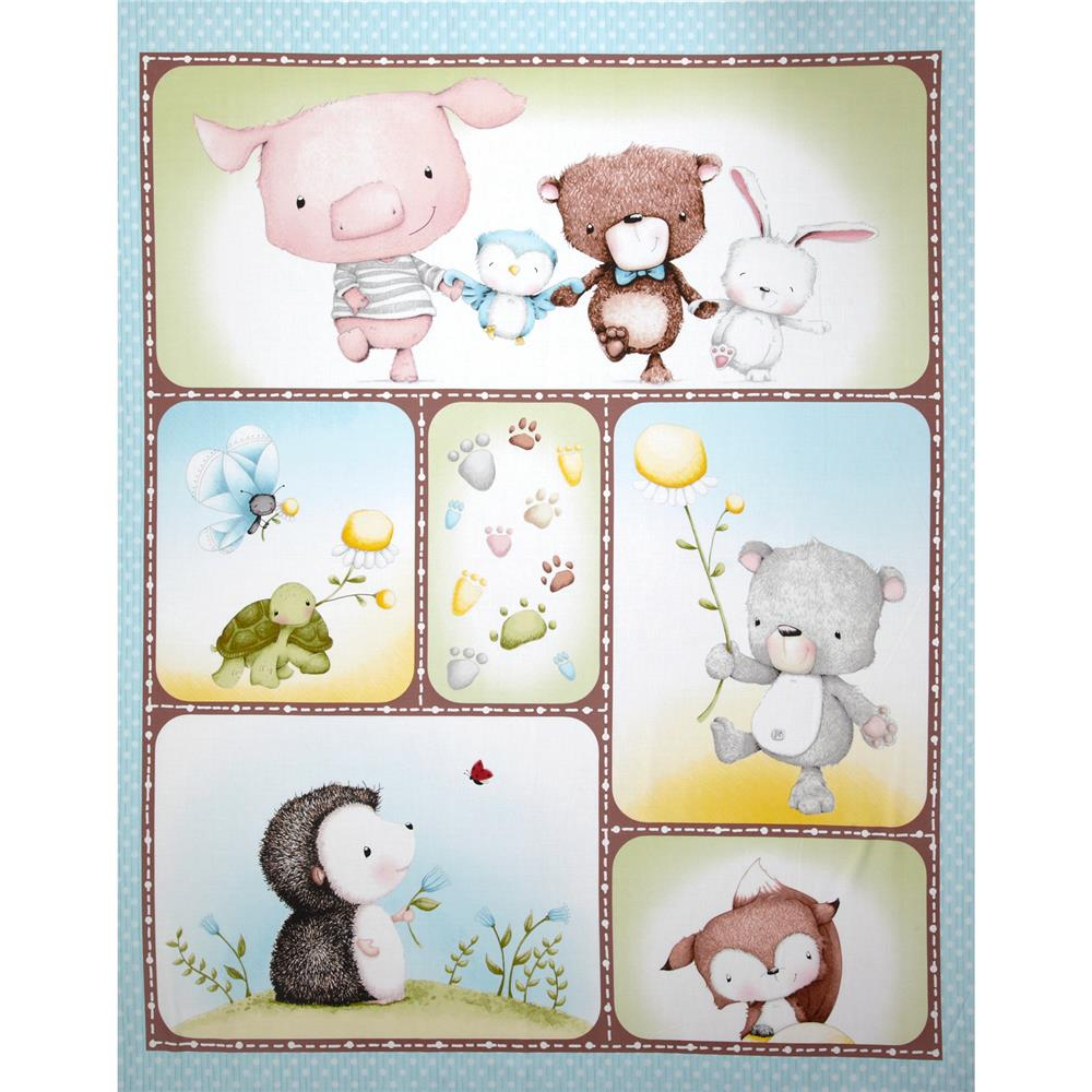 Snuggle Buddies Picture Panel Aqua/Blue
