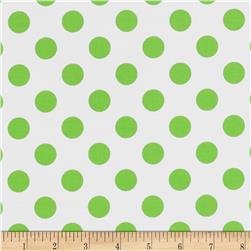 Riley Blake Laminated Cotton Dots Neon Green