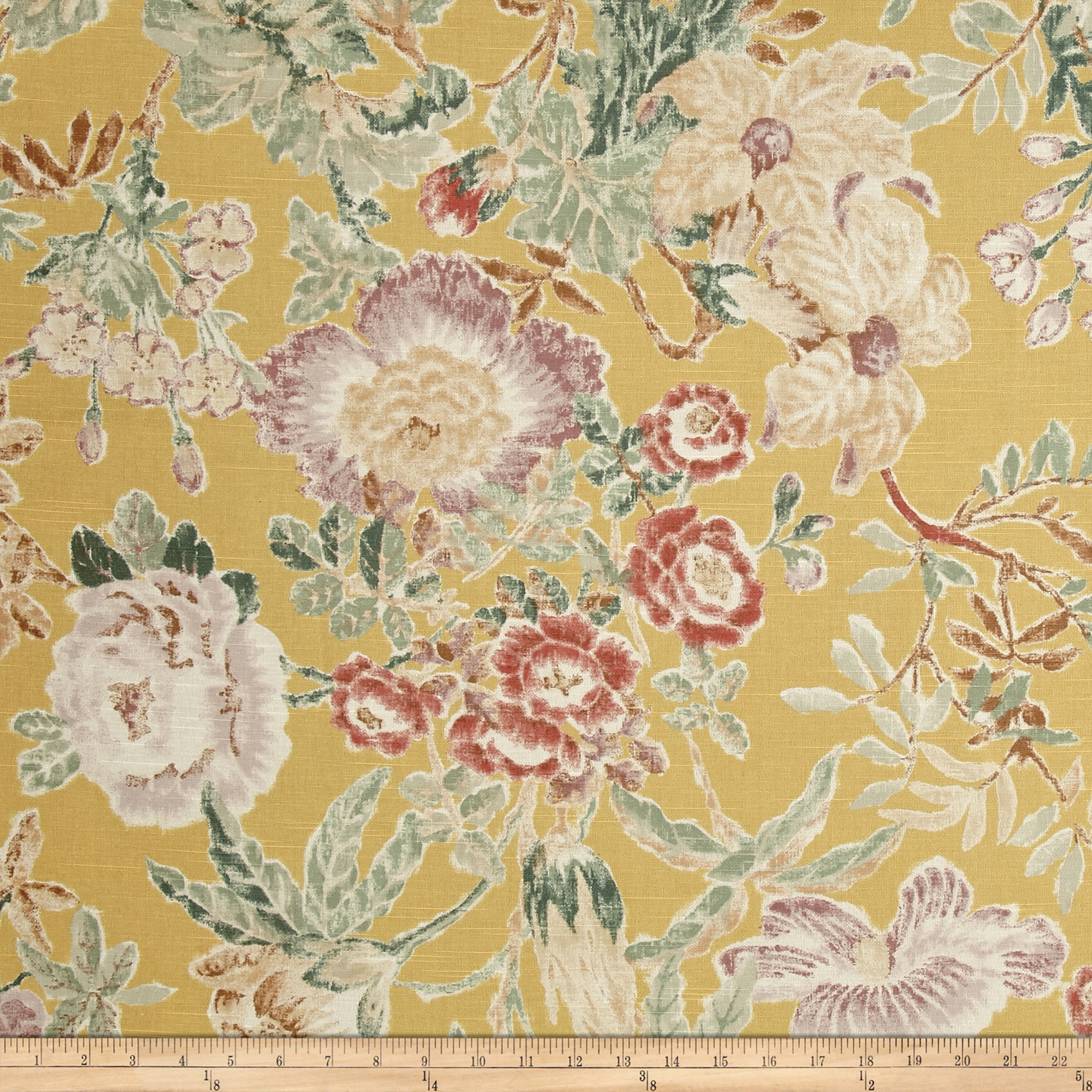 P/Kaufmann Mixed Bouquet Floral Jonquil Fabric by P Kaufman in USA