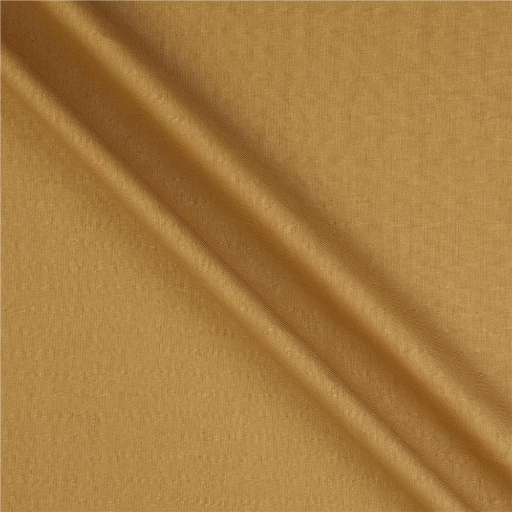 Kaufman Essex Linen Blend Leather Gold