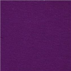 Basic Cotton Baby Rib Knit Solid Violet
