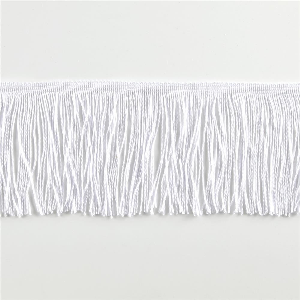 "4"" CHAINETTE FRINGE TRIM WHITE"